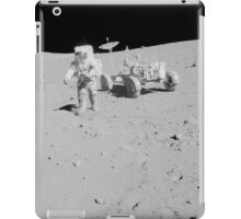 Apollo 15 astronaut walks away from the Lunar Roving Vehicle. iPad Case/Skin