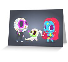 Nightmare Before Christmas Trio | PopMuertos 2017 Greeting Card