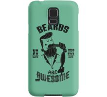 Beards are Awesome black Samsung Galaxy Case/Skin
