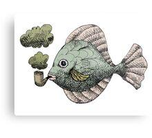 Fish Pipe Metal Print