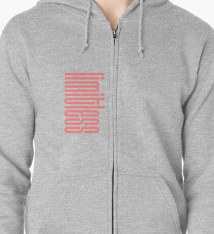 NCT- Limitless, logo - Pink on Pink Zipped Hoodie