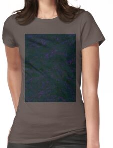Smeared Black Ink Womens Fitted T-Shirt