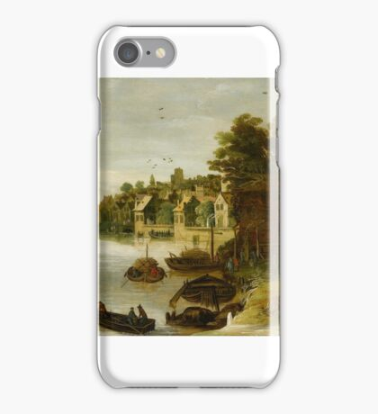 Philippe de Momper (Antwerp - Antwerp ), Landscape by a Riverside Town, said to be Treviso - iPhone Case/Skin