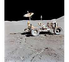 Apollo 15 Lunar Roving Vehicle on the moon. Photographic Print