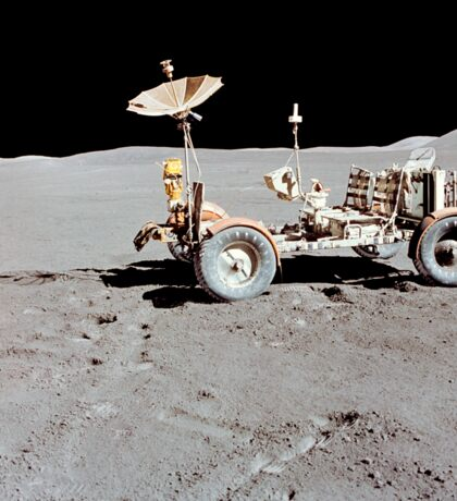 Apollo 15 Lunar Roving Vehicle on the moon. Sticker