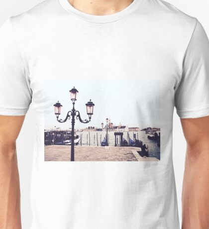 Pink Lamplights in Venice Unisex T-Shirt