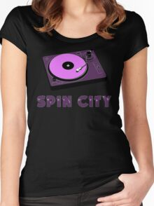 Spin City Women's Fitted Scoop T-Shirt