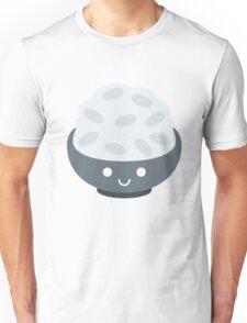 Rice Bowl Emoji Happy Smiling Face Unisex T-Shirt
