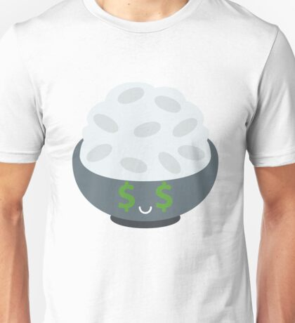 Rice Bowl Emoji Money Face Unisex T-Shirt