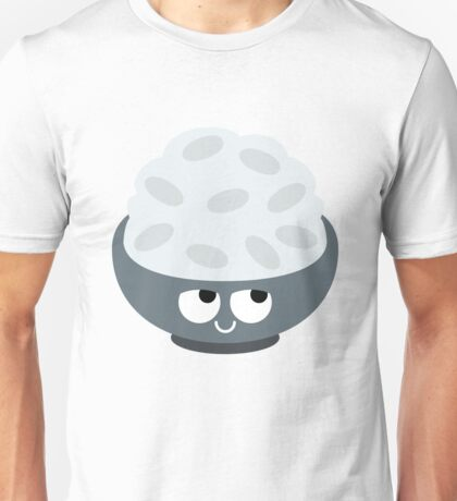 Rice Bowl Emoji Think Hard and Hmm Unisex T-Shirt