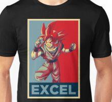 """""""Excel"""" (V2) -- Super Saiyan God Goku Poster Unisex T-Shirt"""