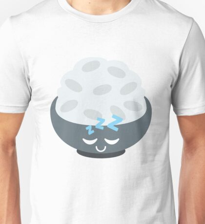 Rice Bowl Emoji Sleep and Dream Unisex T-Shirt