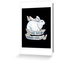 Killer Bunny Greeting Card