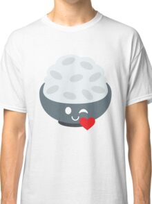 Rice Bowl Emoji Flirt and Blow Kiss Classic T-Shirt