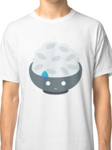 Rice Bowl Emoji Speechless with Sweat Classic T-Shirt