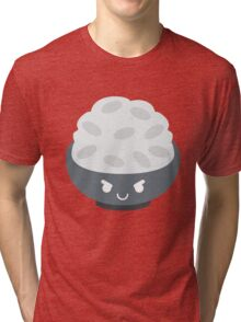 Rice Bowl Emoji Naughty and Cheeky Tri-blend T-Shirt