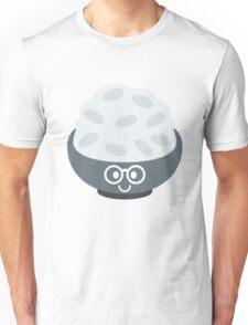Rice Bowl Emoji Nerd Noob Glasses Unisex T-Shirt