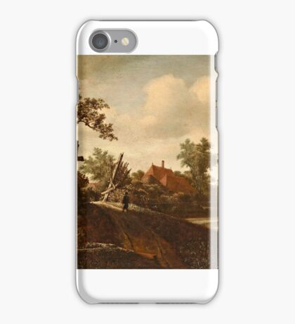 Roelof Jansz. van Vries , A Landscape with a Figure on a Path and a Bleaching Field Beyond iPhone Case/Skin