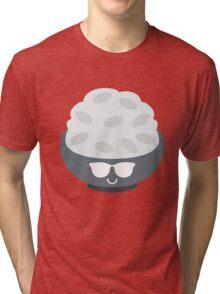 Rice Bowl Emoji Cool Sunglasses Tri-blend T-Shirt
