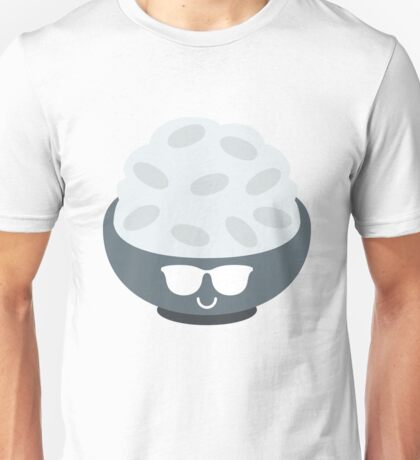 Rice Bowl Emoji Cool Sunglasses Unisex T-Shirt