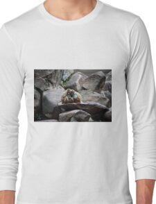 Monkey happy family  Long Sleeve T-Shirt