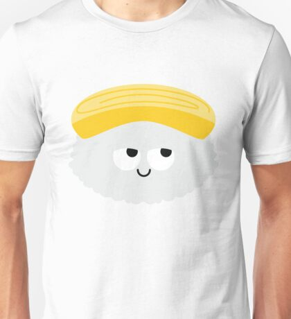 Egg Sushi Emoji Think Hard and Hmm Unisex T-Shirt