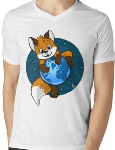 Cute Firefox Mens V-Neck T-Shirt