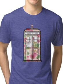 Rose TARDIS Tri-blend T-Shirt