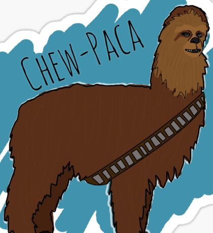 Chewbacca Alpaca Sticker