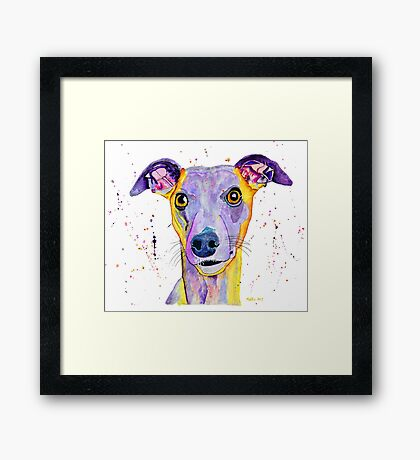 Yes you can give me a treat Framed Print