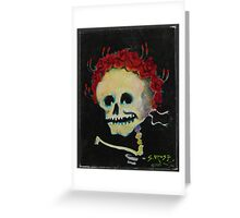 Stanley Mouse BABY SKULL AND ROSES, 1985  Greeting Card