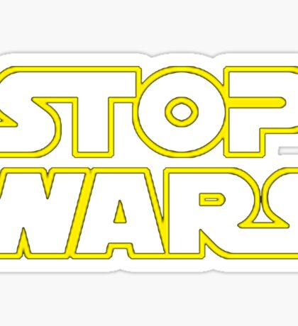Star Wars Stop Wars Sticker