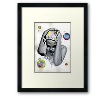 These voices in my head Framed Print