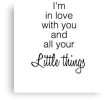 One Direction's Little Things Canvas Print