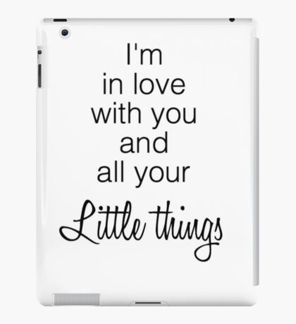 One Direction's Little Things iPad Case/Skin
