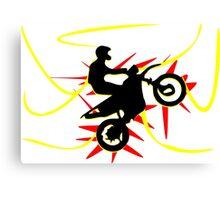 Motor cross Canvas Print