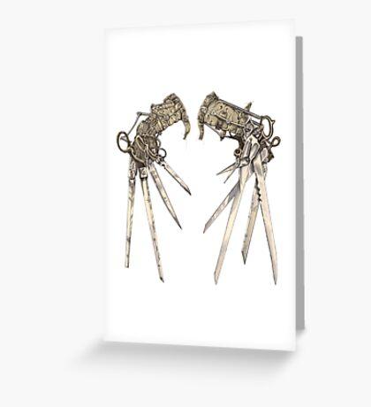 Scissorhands - Sepia   Greeting Card