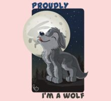 Proudly I'm a wolf Kids Clothes