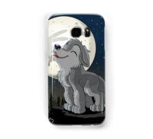 Little Wolf Howling Samsung Galaxy Case/Skin