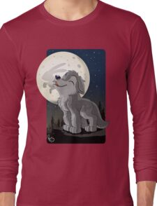 Little Wolf Howling Long Sleeve T-Shirt