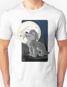 Little Wolf Howling Unisex T-Shirt