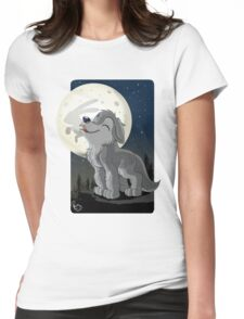 Little Wolf Howling Womens Fitted T-Shirt