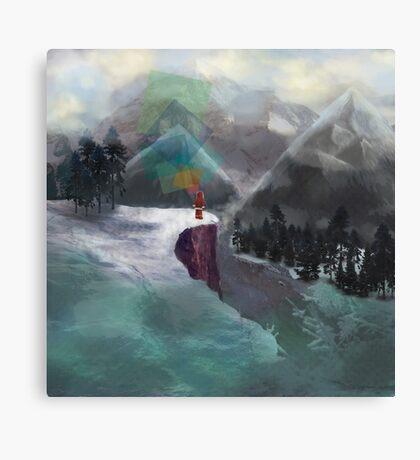 Enviornmental Landscape Red Illustration Canvas Print