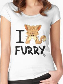 I ñawr FURRY Women's Fitted Scoop T-Shirt
