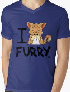 I ñawr FURRY Mens V-Neck T-Shirt