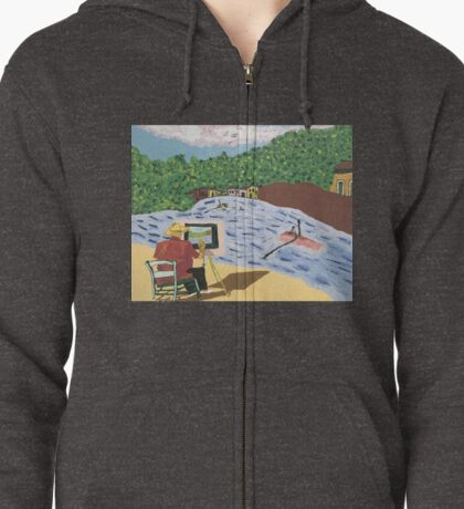 The Unfinished Painting Zipped Hoodie