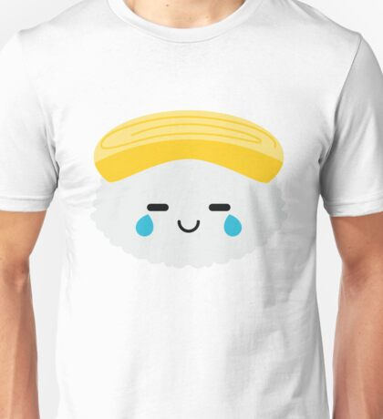 Egg Sushi Emoji Teary Eye of Joy Unisex T-Shirt