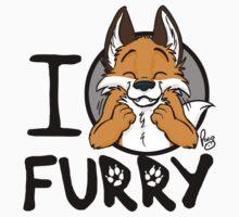 I grrarrrgh furry (fox version) Kids Clothes
