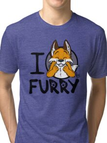 I grrarrrgh furry (fox version) Tri-blend T-Shirt