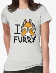 I grrarrrgh furry (fox version) Womens Fitted T-Shirt